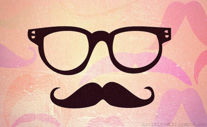 las propuestas mas divertidas de fondos para tu ordenador o portátil, dibujo bigotes y gafas, originales fotos