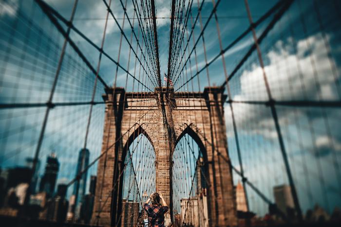las mejores fotos de la ciudad de Nueva York para el fondo de tu pantalla, imagen puente de Brooklin, originales fotos