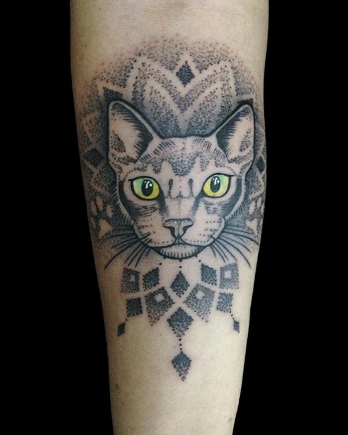 propuestas unicas de tatuajes de gatos egipcios, los mejores diseños en imagines, ojo de horus tatuaje y tatuajes de gatos