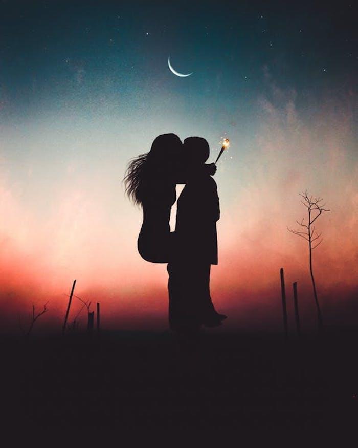 pareja enamorada en abrazo, fotos románticas para un bonito fondo de pantalla, originales imagines para descargar