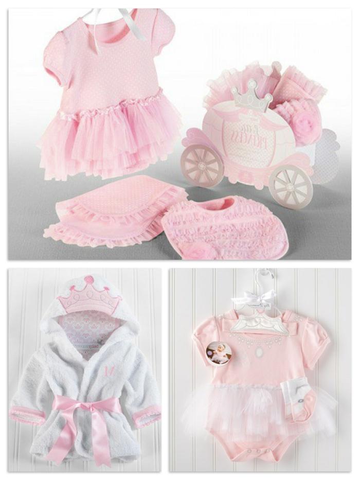 regalos para pequeñas princesas, vestidos bonitos en rosado y blanco, regalos para bebes recien nacidos, regalo bebé niña