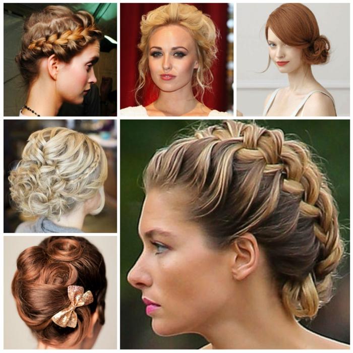 algunos ejemplos de peinados vintage inspirados en los peinados medievales, bonitas ideas de recogidos medievales