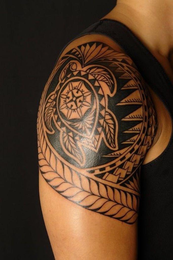 bonitos diseños de tatuajes tribales, tatuajes brazo mujer bonito, tatuajes de animales, cuál es el significado del tatuaje de tortuga