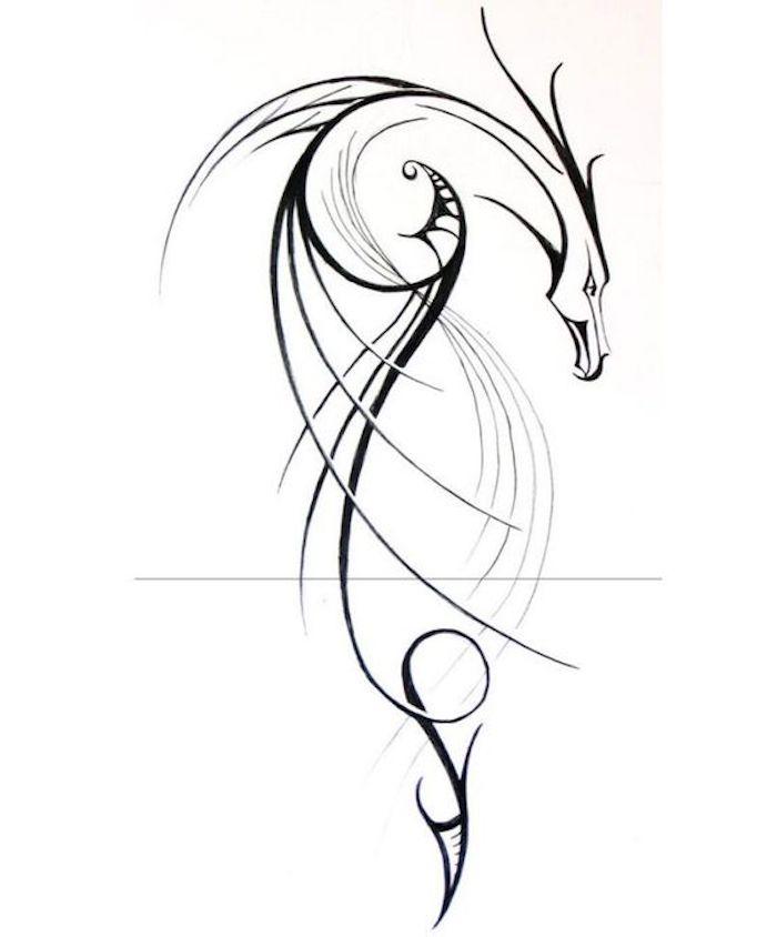 adorables diseños de tatuajes con dragones, ideas de tattoos con criaturas fantásticas, dibujos para tatuajes que inspiran