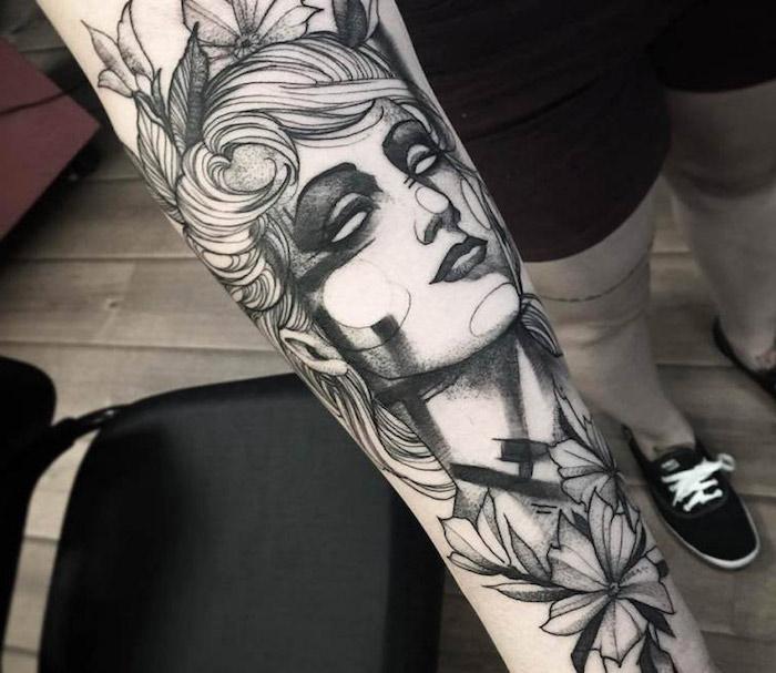 más de 100 diseños de tatuajes simbolicos, tattoo cara de mujer flores, diseños de tatuajes realistas., 101 diseños únicos de tattoos