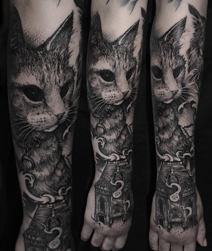 tatuajes mágicos con un fuerte significado, diseños de tatuajes de animales, tatuajes en estilo realista inspirados en libros