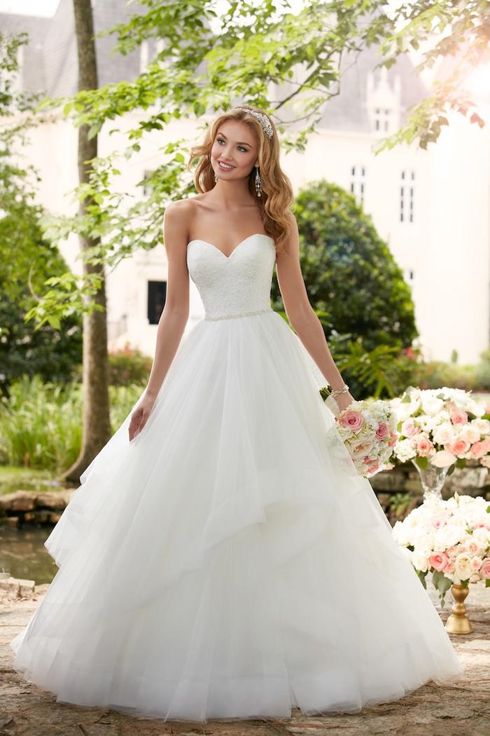 los diseños más bonitos de vestidos de novia con falda voluminosas de tul, más de 80 imagines de vestido novia princesa