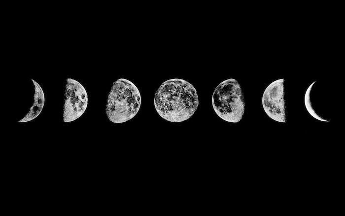 foto con las fases de la luna, originales ideas de imagines de fondo, las mejores propuestas para tu fondo de telefono
