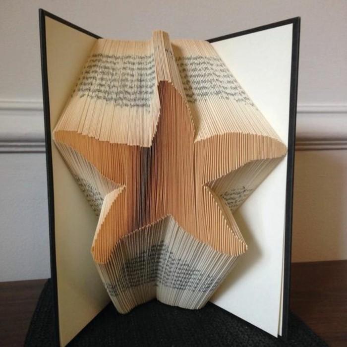 estrella de pledago de libros, las mejores ideas de creaciones con la tecnica de plegar paginas de libro, 85 imagines con ejemplos