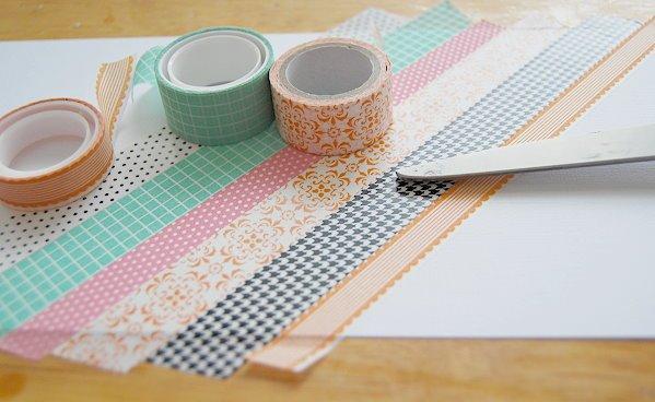 manualidades para niños de primaria faciles paso a paso, manualidades con washi tape, ideas de manualidades de primaria, cuadros decorativos con washi tape para niños