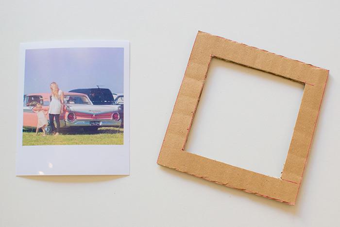 marco de foto DIY hecho de cartulina, manualidades faciles para niños originales, como decorar la casa con manualidades infantiles