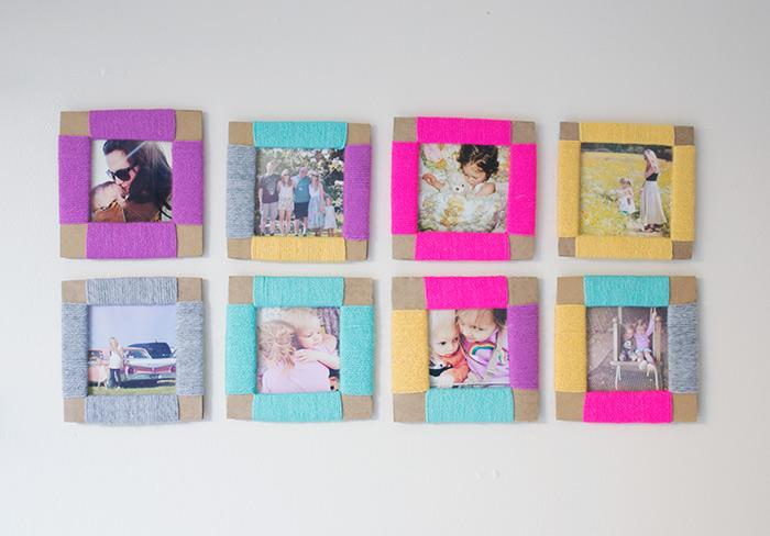 cuadros coloridos para decorar la casa, pequeños cuadros en colores, mini cuadros de cartulina DIY, ejemplos de actividades para niños