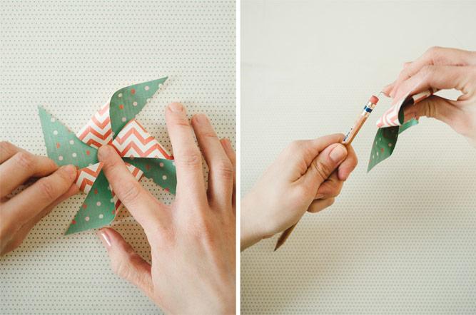 manualidades para niños de primaria con papel, como hacer un molinillo de viento de papel paso a paso, manualidades para niños de primaria faciles y originales paso a paso