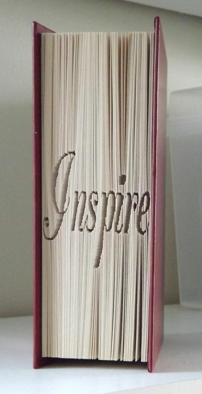 pledago de libros, ideas que inspiran, letras en las páginas de libros, técnica de plegado de libros con origami