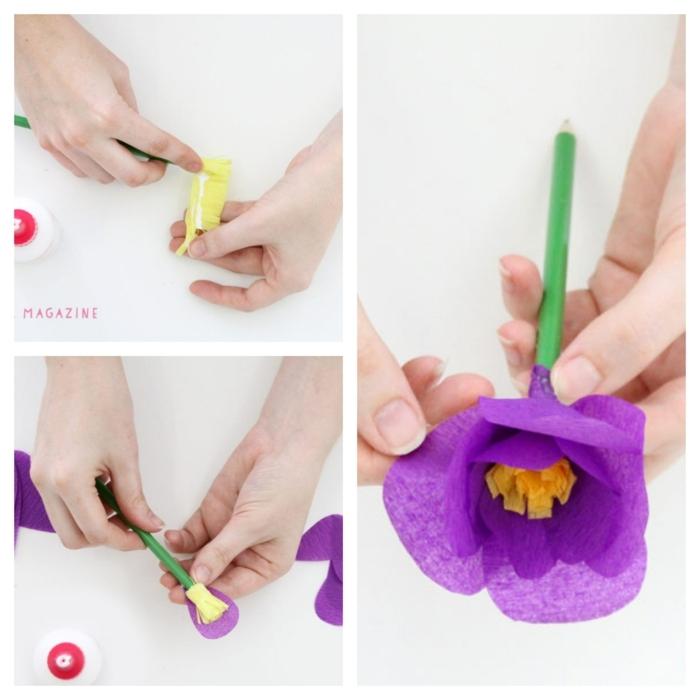 bonitas ideas de regalos profesores paso a paso, como hacer flores de papel crepe, manualidades paso a paso bonitas