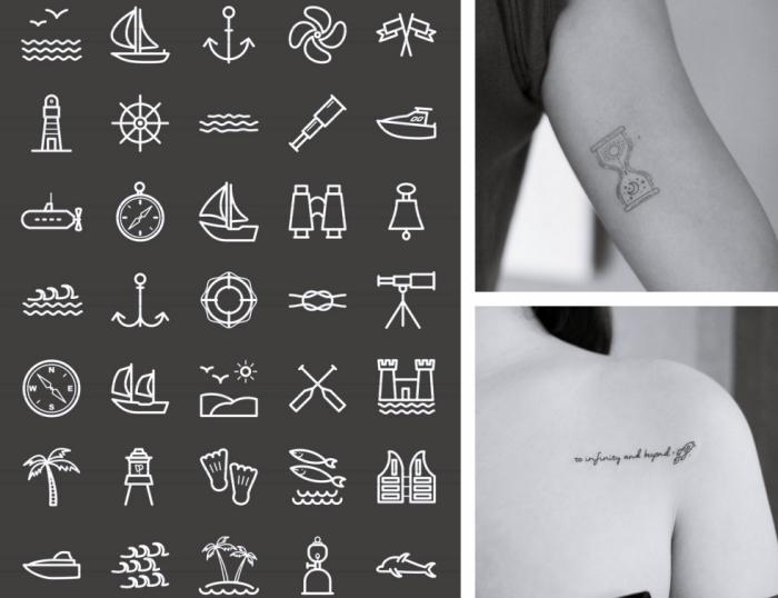 símbolos para tatuarse en la piel, tatuajes discretos, tatuajes en el brazo y en el hombro, diseños de tatuajes únicos