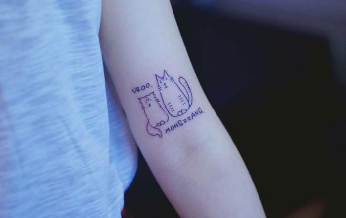 propuestas bonitas de tatuajes de mascotas, tatuajes chicos en el brazo, imagines de tatuajes para hombres en el brazo