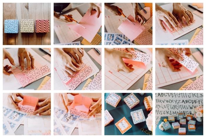 regalos para invitados de boda ideas en imagines, como hacer cajas de regalo personalizadas hechas a mano paso a paso