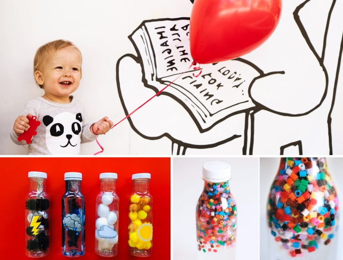 sugerencias de manualidades para niños de 3 a 5 años, diferentes actividades manuales y juegos para niños muy pequeños