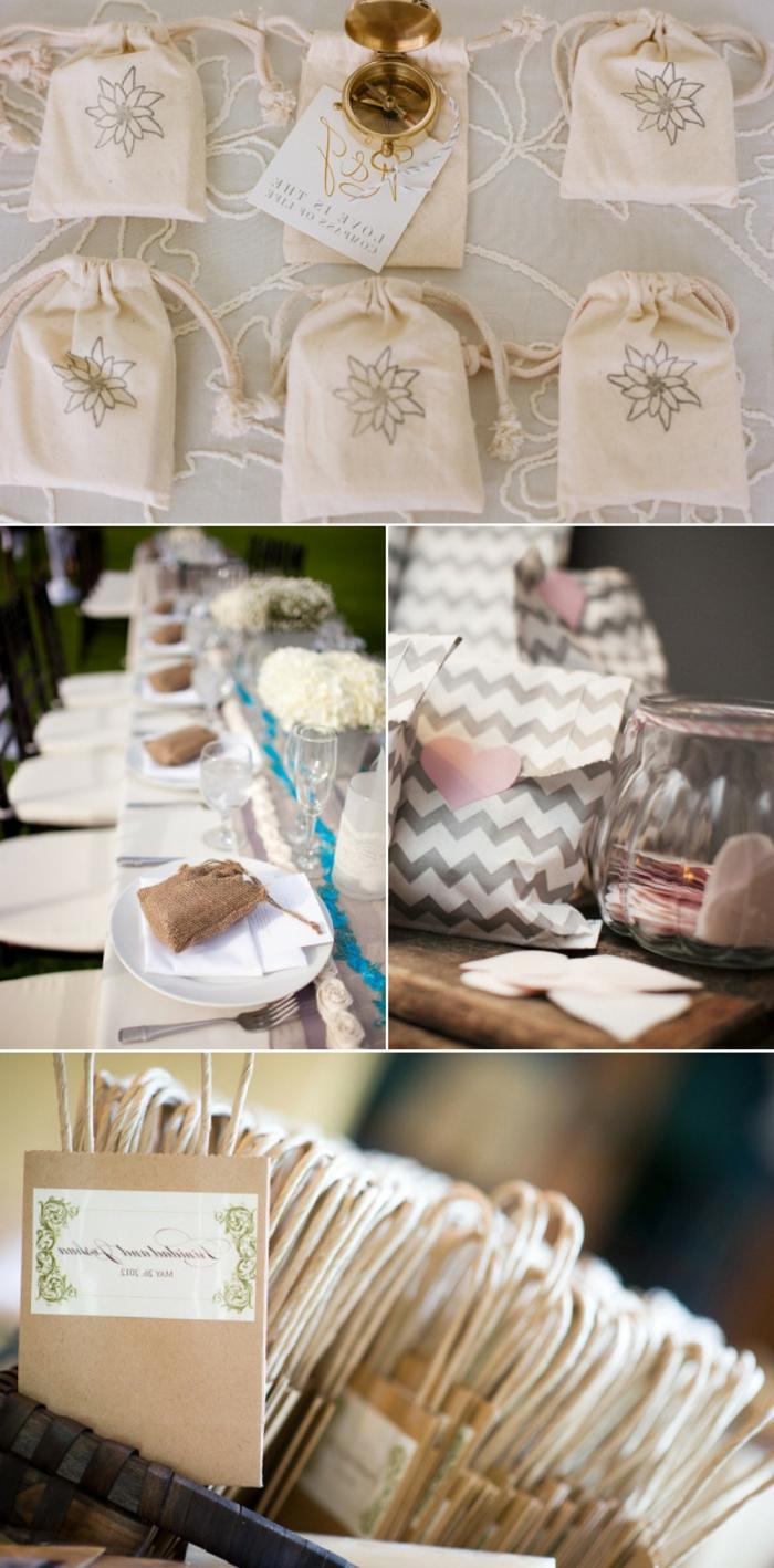 ideas unicas de detalles para regalar, bolsas personalizadas bonitas, ideas sobre qué regalar a tus invitados en el día de tu boda