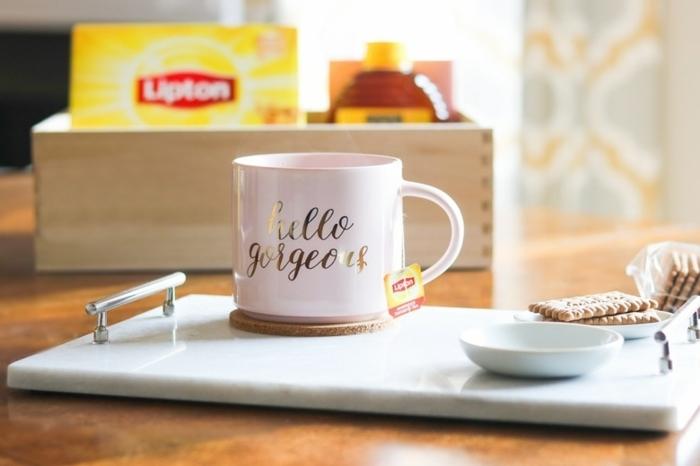 taza de café personalizada, tablero y taza de té y cafe, kit para los amantes del té, regalos personalizados para profesores