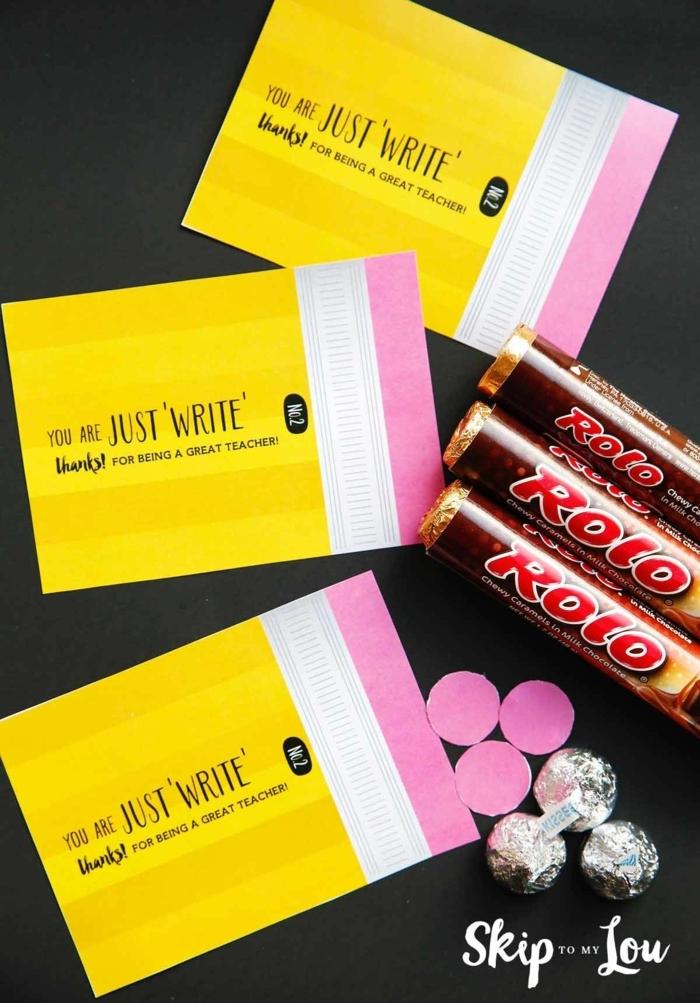regalos para maestras de infantil DIY, chocolates personalizados, regalar dulces y caramelos a la profesora de tu niño