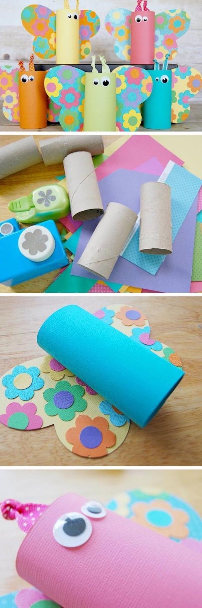 manualidades con tubos de cartón reciclados, divertidas propuestas de manualidades sencillas para niñosy adultos