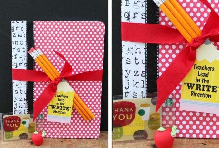 kit de pequeños regalos para profesora infantil, cuaderno, lápices, regla y bonitos detalles para regalar, regalos profesoras infantil