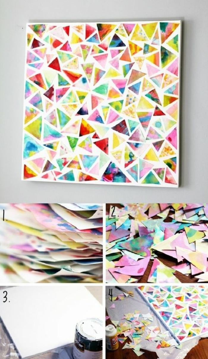 ideas de diy manualidades para decorar la casa, originales ideas de manualidades fáciles de hacer con papel, manualidades de papel