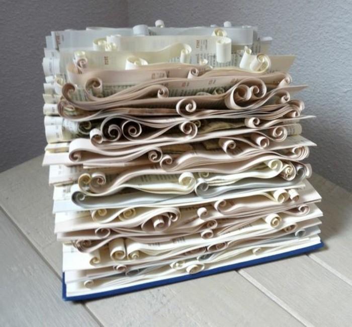 las mejores ideas con plegado de libros, manualidades de papel originales, ideas de regalos de bodas y aniversarios