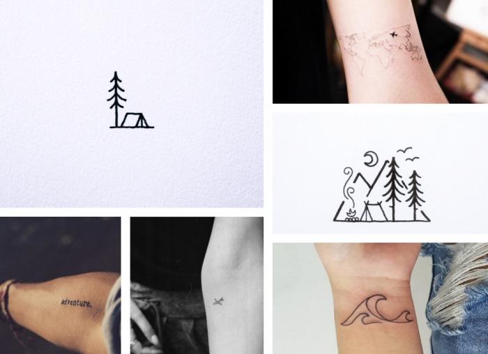 seis propuestas encantadoras de tatuajes en el antebrazo para los amantes de los viajes, tatuajes simbólicos bonitos