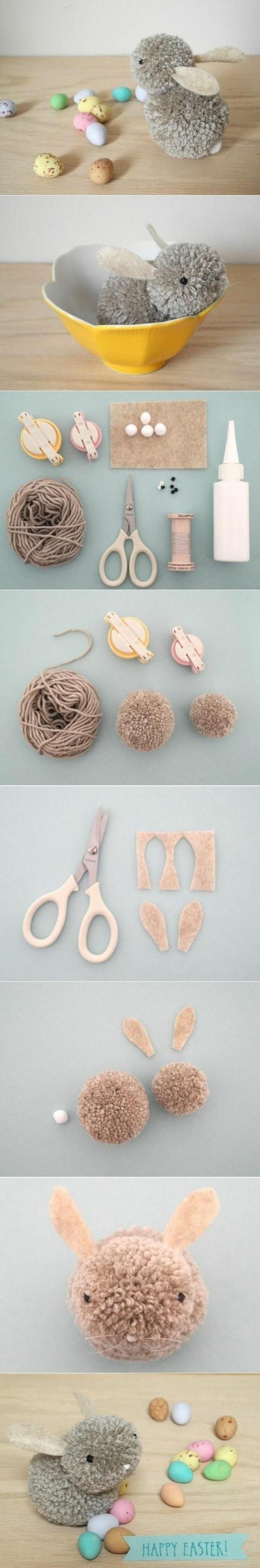 ideas sobre cómo hacer manualidades de lana, tutoriales de manualidades para niños faciles y rapidos paso a paso
