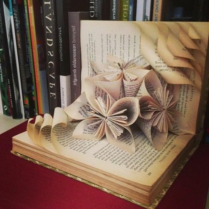 como hacer cosas de papel originales, manualidades con papel, como hacer flores de papel de un libro