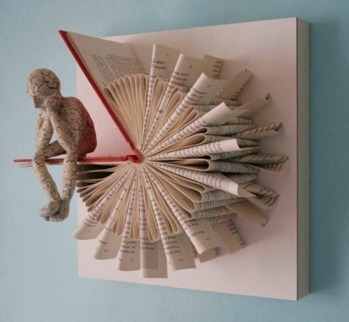 arte del plegado de libbros, imagines de detalles hechos a mano con libros, más de 90 fotos de plegado libro