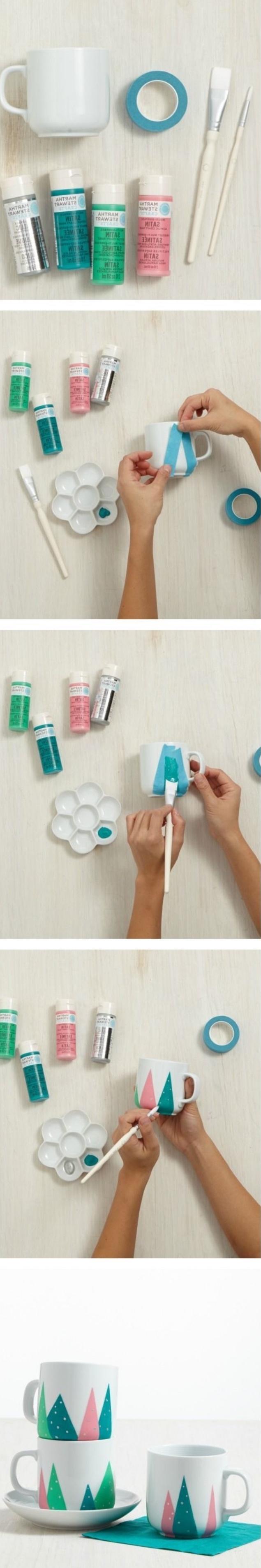 proyectos DIY bonitos paso a paso, tazas de café decoradas, manualdiades desde casa para niños y adultos en imagines