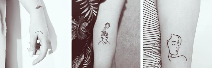 tres fabulosos diseños de tatuajes para mujeres, diseños originales de tatuajes en el antebrazo, diseños con mujeres unicos