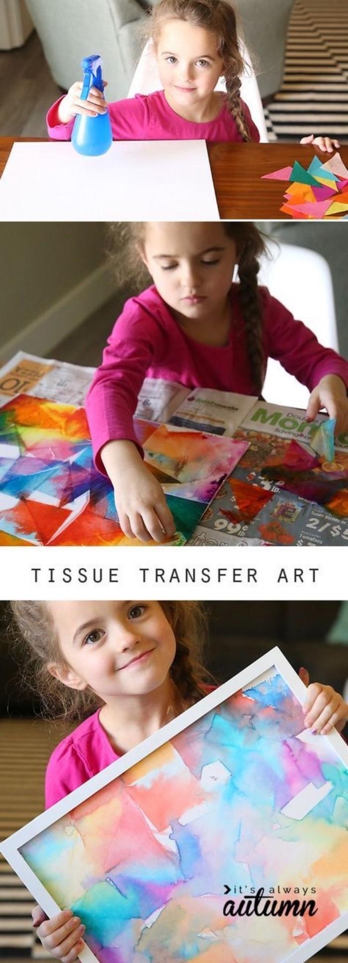 precioso dibujo infantil hecho con pinturas acuarela en colores pasteles, manualdiades desde casa super divertidas
