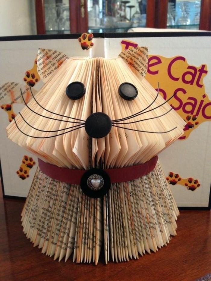 ideas de manualidades de papel periodico, simpatico perro hecho de papel, ideas de manualidades con reciclaje