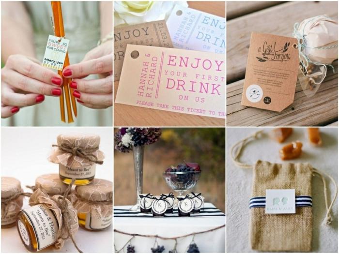90 ideas de regalos para convidados de boda, detalles de boda originales y utiles, pequeños detalles para regalar en fotos