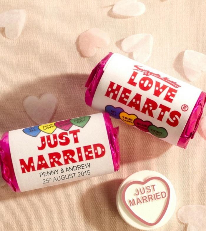 ideas unicas para bodas, detalles de boda originales para invitados, caramelos personalizados para regalar a los invitados