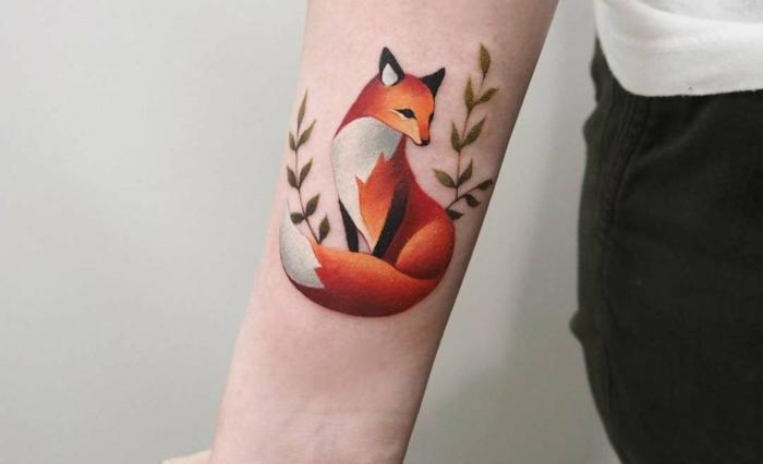 tatuaje en el antebrazo en colores, precioso diseño de tattoo en el antebrazo en colores acuarela, diseños originales