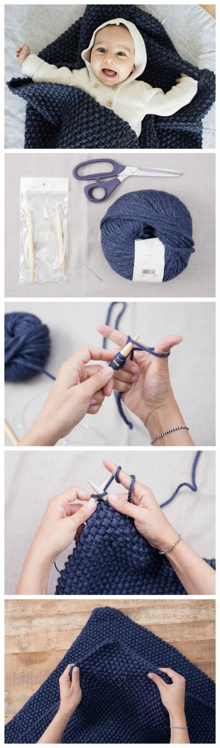bonita manta de lana hecha a mano, ideas de regalos para recién nacidos originales, ejemplos de actividades de pasatiempo