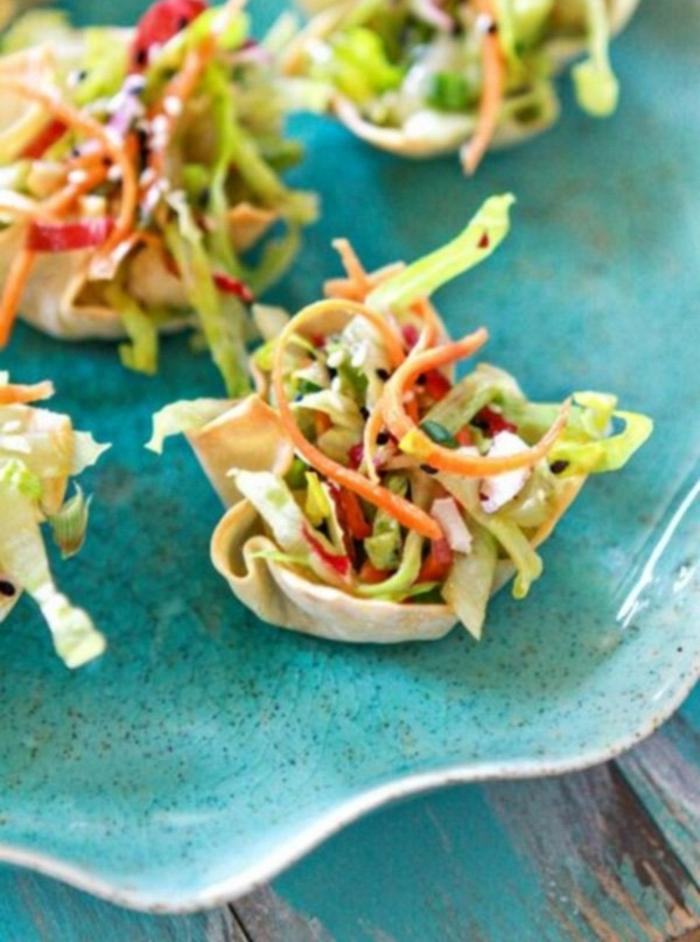 totritas asiáticas con vegetales, las mejores propuestas de tapas fáciles para preparar en verano, comidas ligeras y saludables