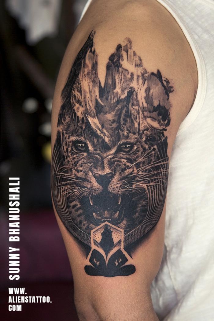 brazo entero tatuado, tatuajes que signifiquen fuerza, tatuaje tigre hombres, imagines de tatuajes para hombres en el brazo