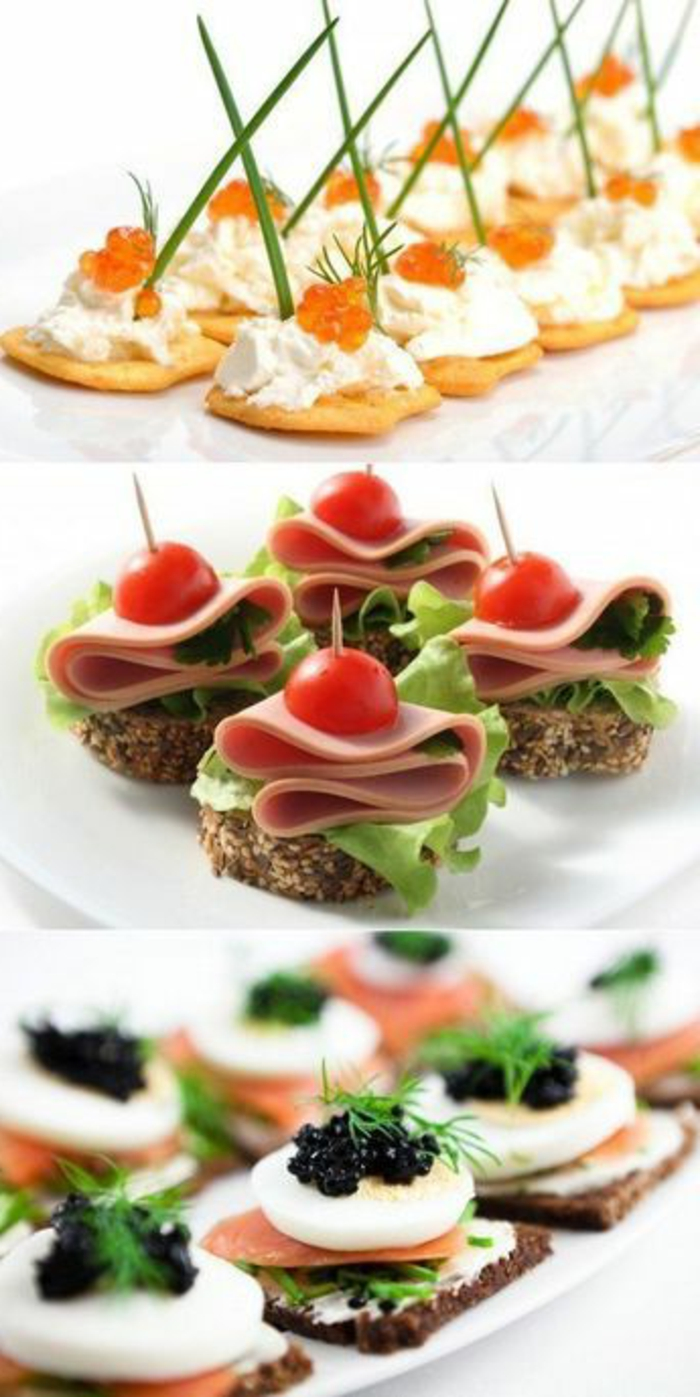 tres propuestas de canapés frios y fáciles, canapés para sorprender a tus invitados, recetas fáciles y ricas paso a paso