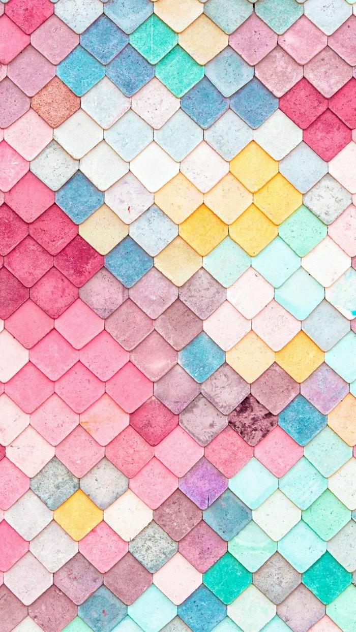 imagenes bonitas para el movil, bonitas fotos en colores del verano, pequeños rombos en colores pastel, originales ideas de fondos de pantalla chulos