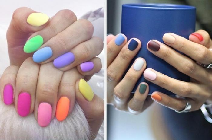 tendencias uñas verano en fotos, originales ideas de modelos de uñas en tendencia para 2019, uñas largas almendradas