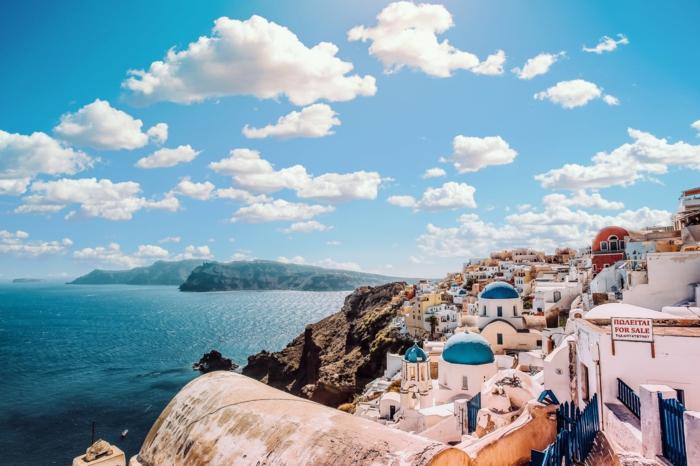 109 descargables imagines de fondos de pantalla chulos, paisajes de naturaleza super bonitos, foto de Santorini en Grecia