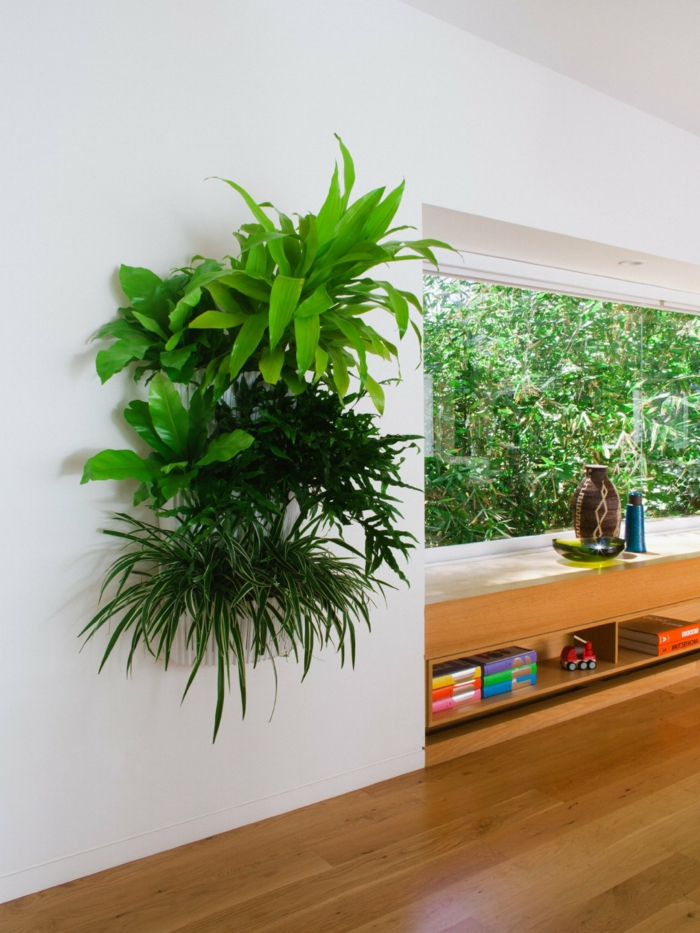 bonitas ideas sobre cómo decorar tu piso con plantas verdes, ideas de diseño de jardines y decoración salón con plantas en fotos