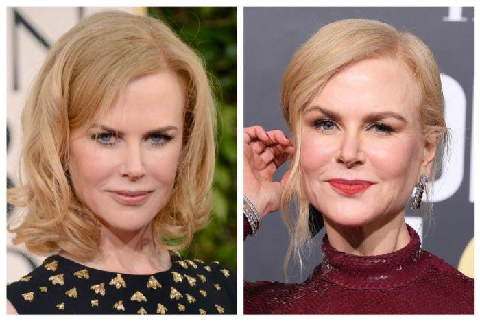 dos ideas de cortes de pelo corto mujer, Nicole Kidman con un look impecable, peinados cortes de pelo largo en fotos